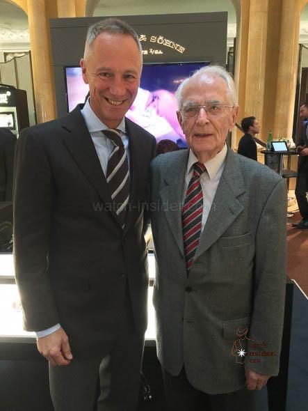 A. Lange CEO Wilhelm Schmid and Walter Lange at Munichtime 2015