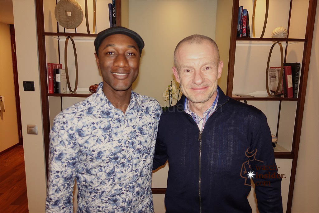 American hip hop artist, vocalist, songwriter, actor, record producer, businessman and musician Aloe Blacc and Watch-Insider Alexander Linz