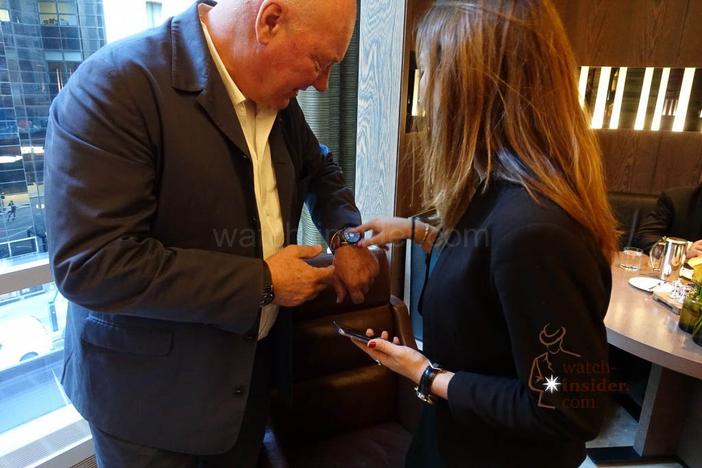 Jean-Claude Biver, wearing the new TAG Heuer Connected watch. #ConnectedToEternity