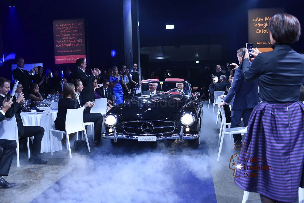 The Laureus Charity Night 2015 in Zürich Switzerland Among the items that went under the hammer was a 1960 Mercedes Benz 190 SL W21.