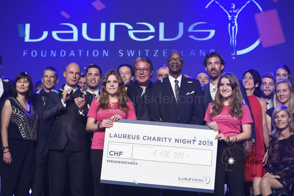 As part of the ninth Laureus Charity Night yesterday evening, 600 prominent figures from the worlds of sport, business, politics and show business collected donations totalling 1.1 Million Swiss francs. Here is the final picture also showing the check ...