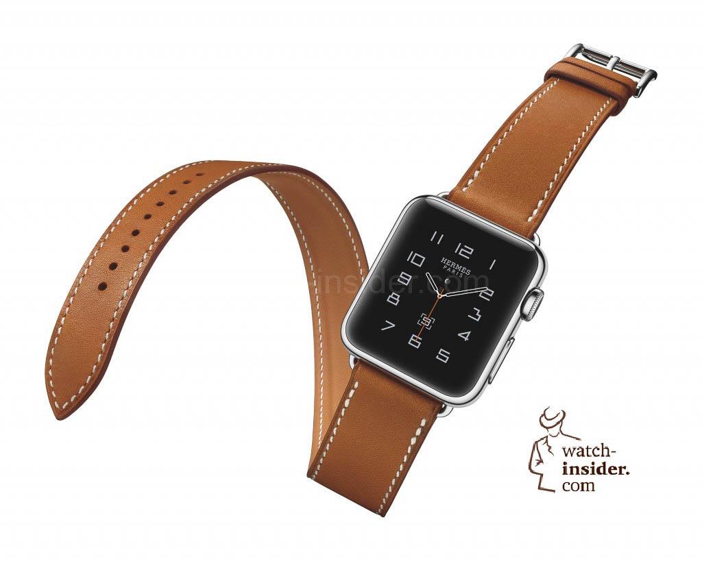Apple Watch Hermès Double Tour Fauve Barenia