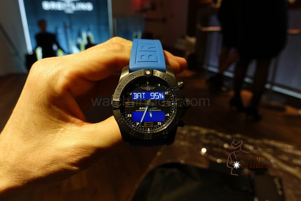 Breitling Exospace B55 Connected: Battery level