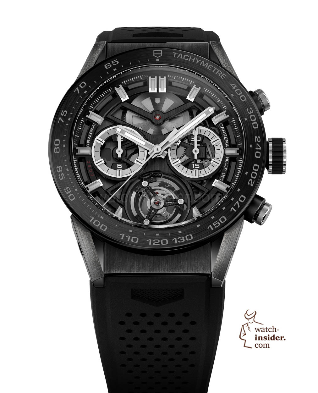 43313da875361 TAG Heuer CARRERA Heuer-02T COSC-certified automatic chronograph with  Tourbillon