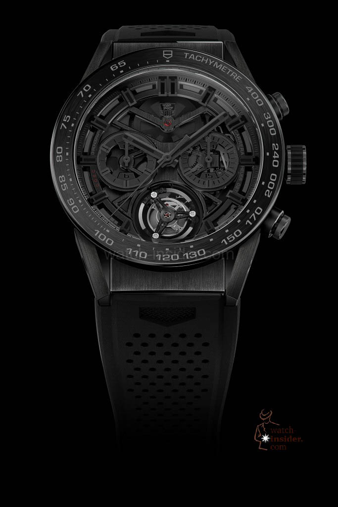 TAG Heuer CARRERA Heuer-02T COSC-certified automatic chronograph with Tourbillon