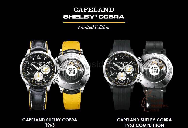 Baume & Mercier Capeland Shelby® Cobra 1963 and Baume & Mercier Capeland Shelby® Cobra 1963 Competition