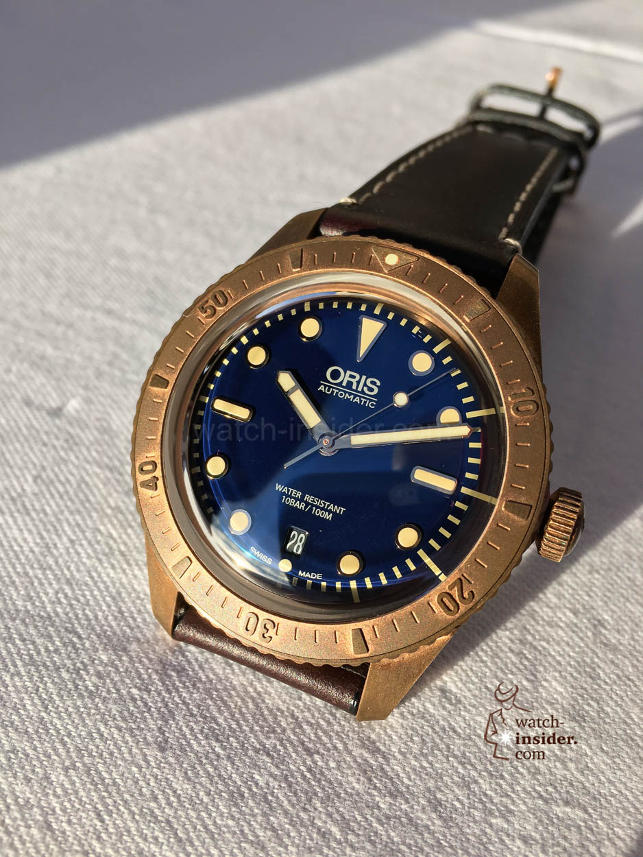 Oris carl brashear a limited edition of 2 000 pieces in - Bronze dive watch ...