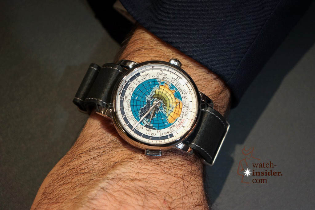 The Montblanc on the wrist of Jerome Lambert at the SIHH 2016 this morning