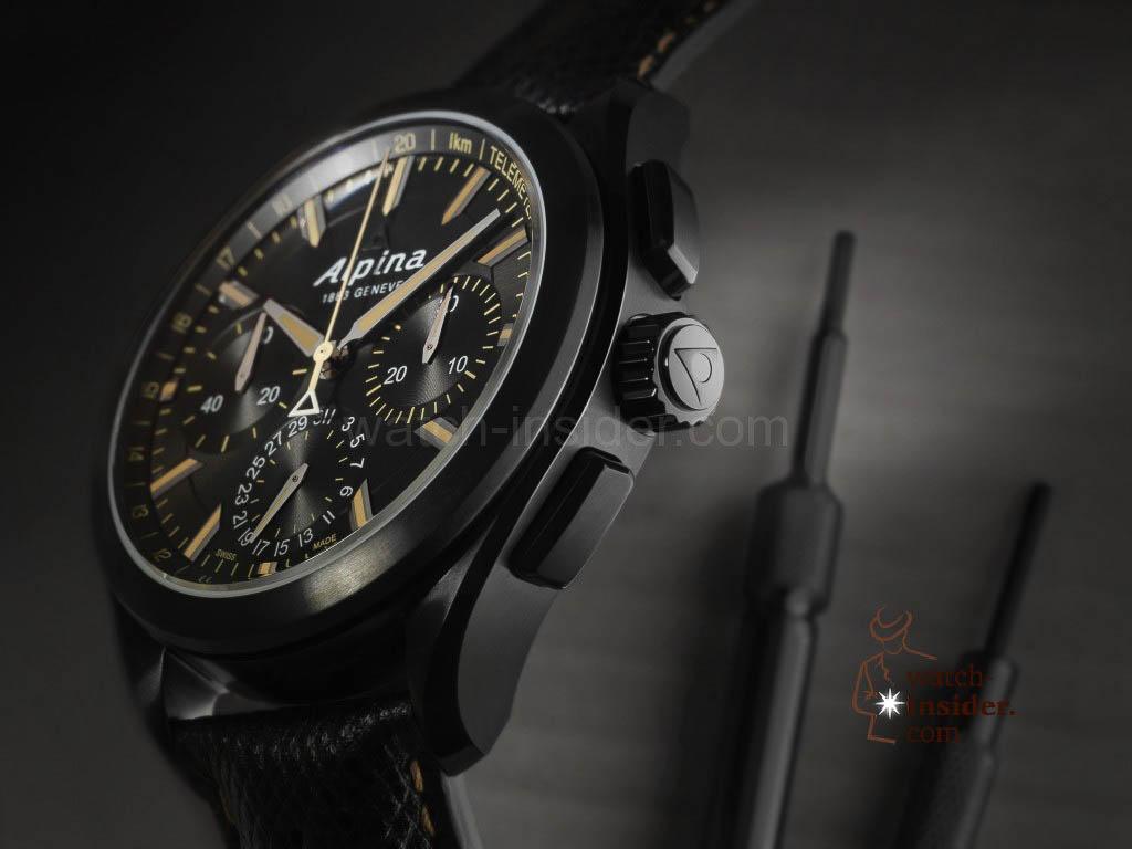 Alpina Full Black Alpiner 4 Manufacture Flyback Chronograph