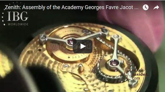 Zenith Assembly Georges Favre Jacot movement