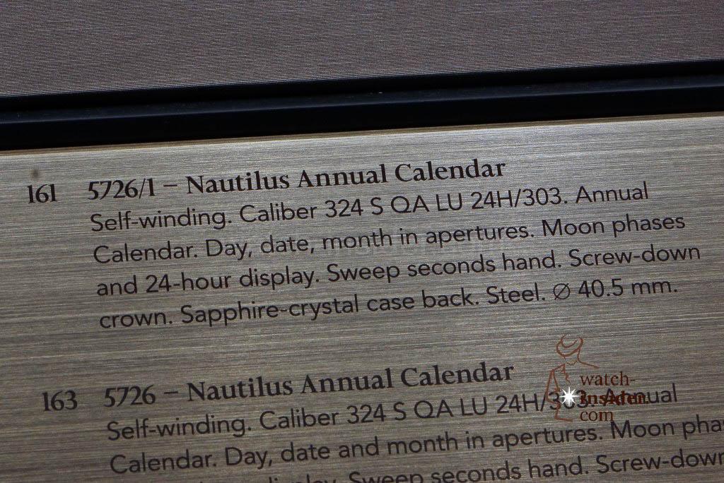 Patek Philippe Nautilus Annual Calendar Ref.5726