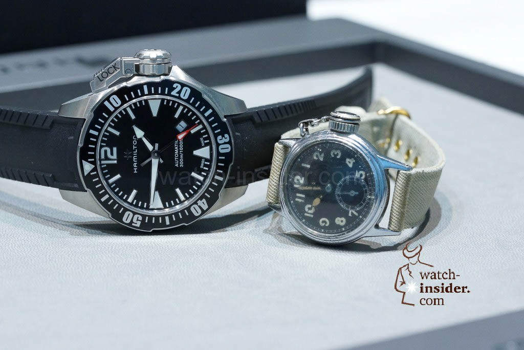 The new 42 mm Hamilton Khaki Navy Frogman versus the 1943 Hamilton Diver