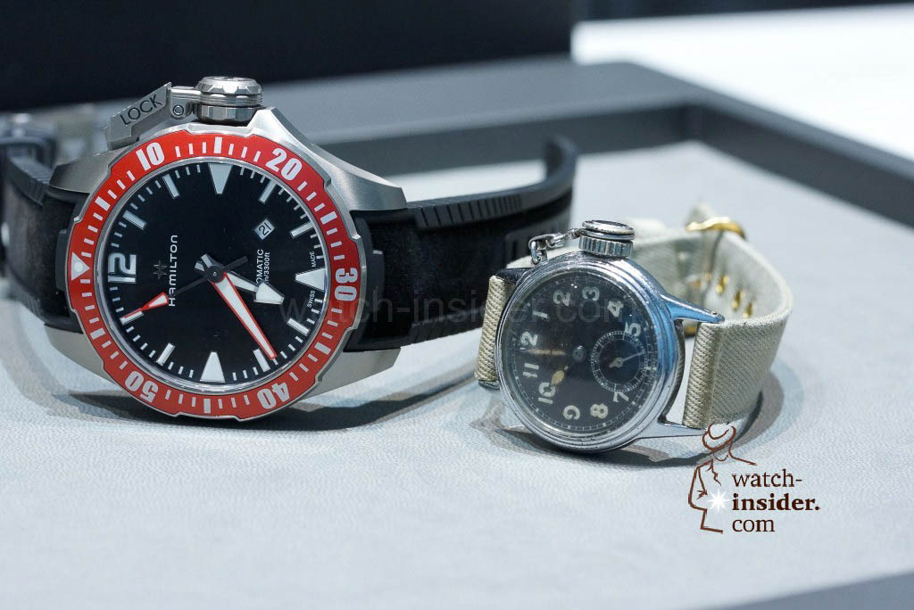 The new 46 mm Hamilton Khaki Navy Frogman versus the 1943 Hamilton Diver