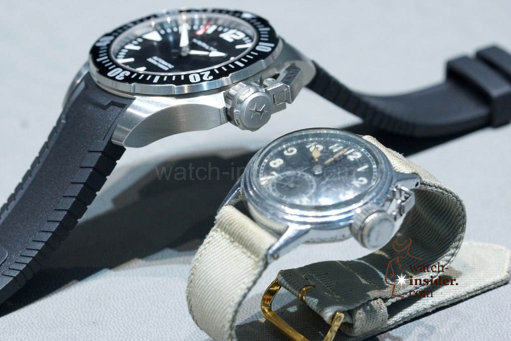 The new 42 + 46 mm Hamilton Khaki Navy Frogman versus the 1943 Hamilton Diver