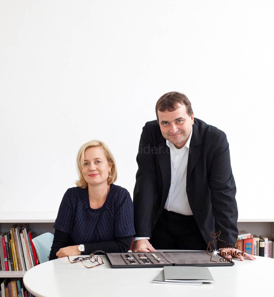 Judith Borowski and Nomos CEO Uwe Ahrendt