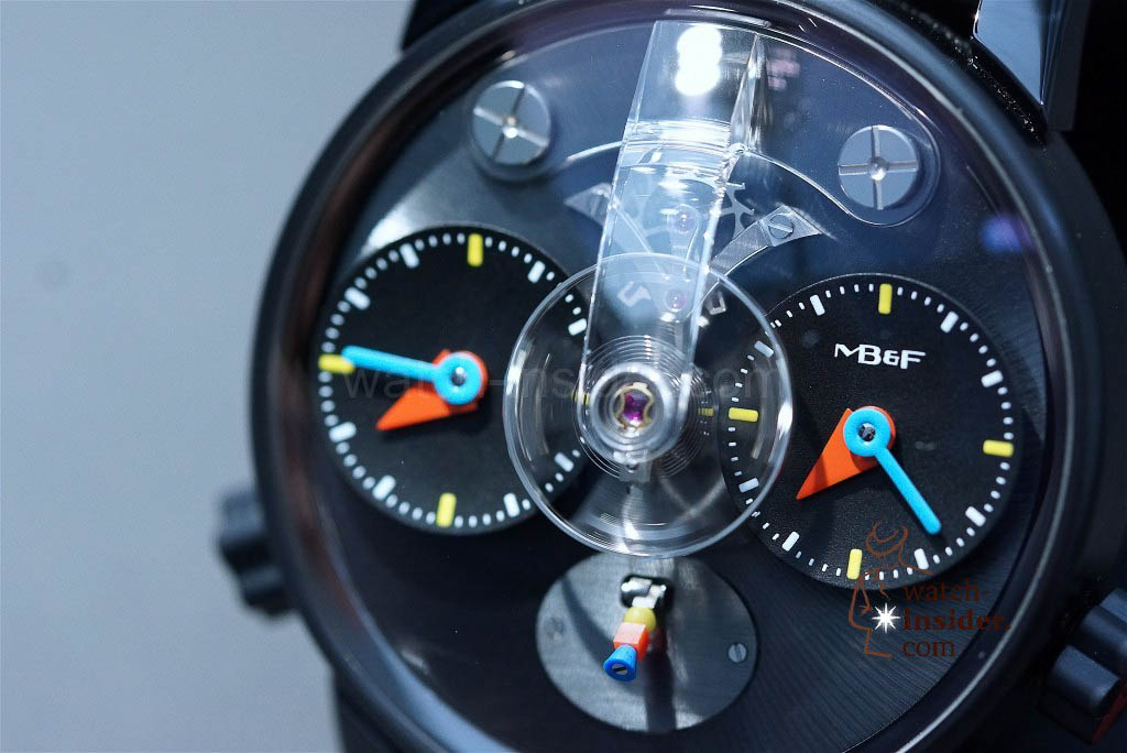 MB&F LM1 Silberstein in titanium treated with black PVD