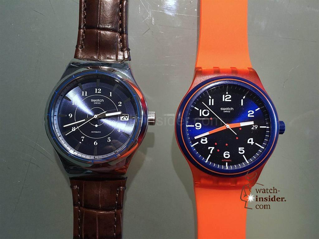Swatch Sistem51. Right Plastic, left Irony