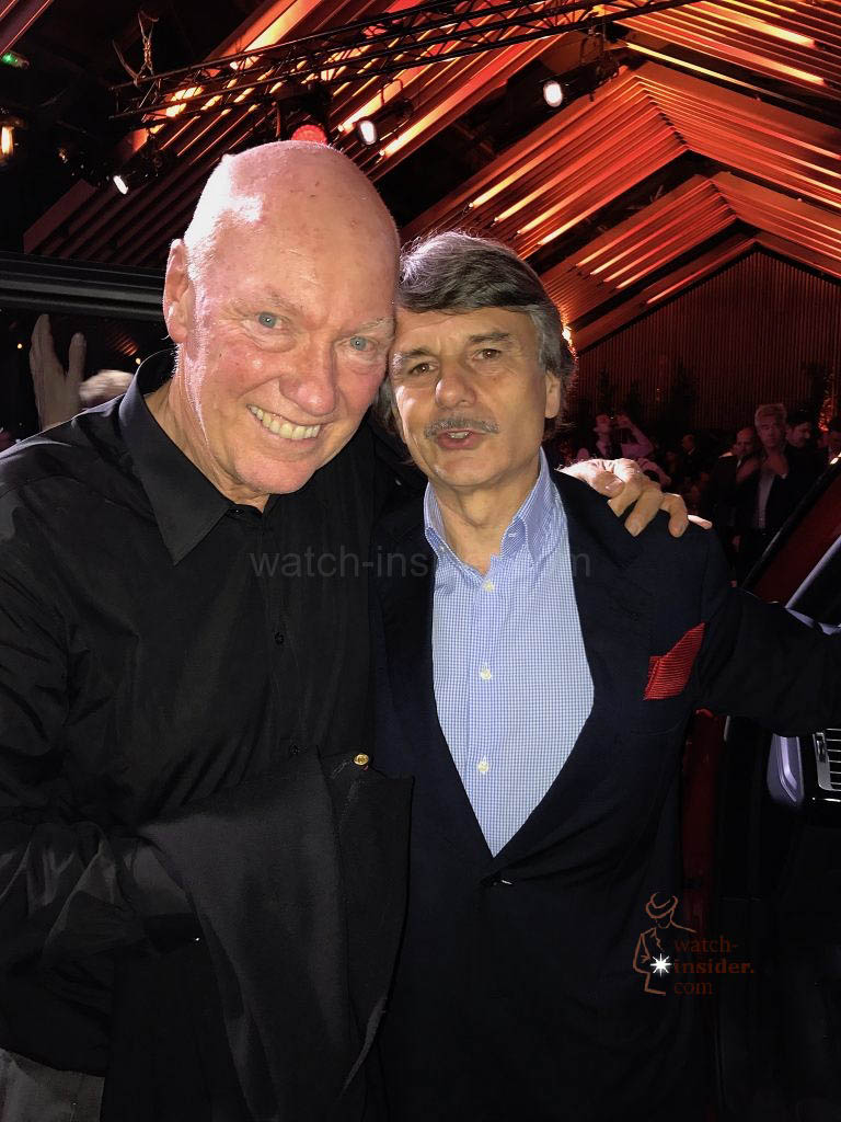 Jean-Claude Biver CEO LVMH watch division and Ralf Speth CEO Jaguar Land Rover