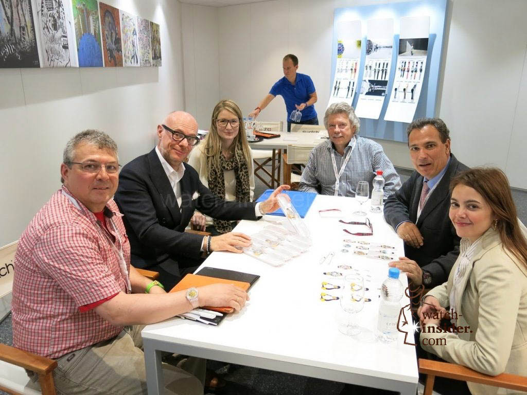 Designing the OurSwatch Quattro together with Carlo Giordanetti, Swatch Art Director (left in the middle)