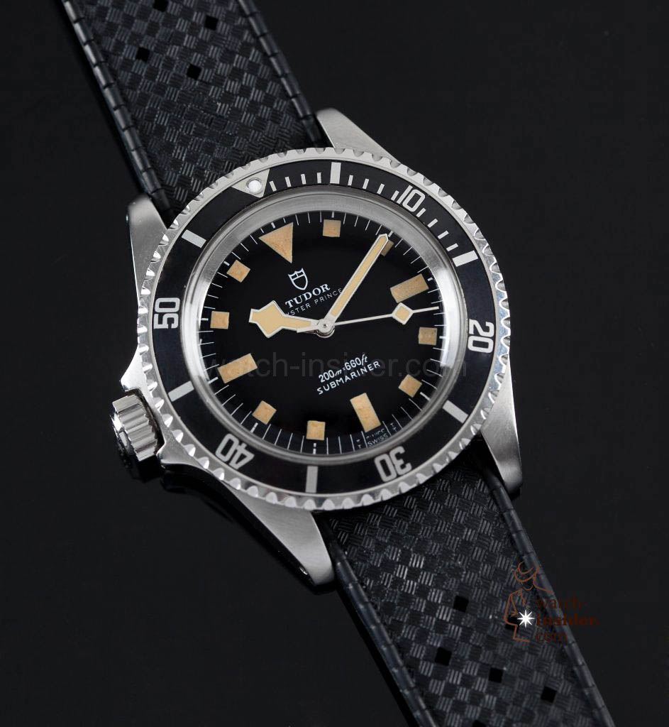 "Tudor Reference 9401 left-handed: an example of a ""left-handed"" watch made for the French Navy in 1981."