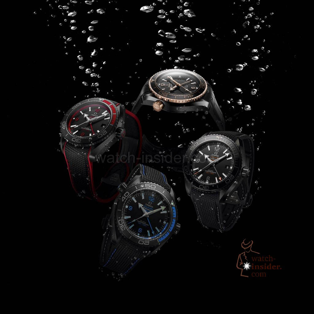 Omega Planet Ocean Deep Black Collection 2016 group picture