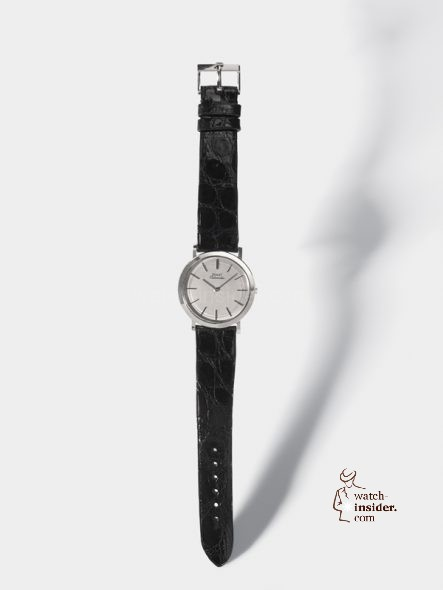 Piaget Ultra-thin watch that formerly belonged to Alain Delon. 1963 White gold. Piaget Manufacture 12P ultra-thin self-winding movement, 2.3mm Ref. 12103