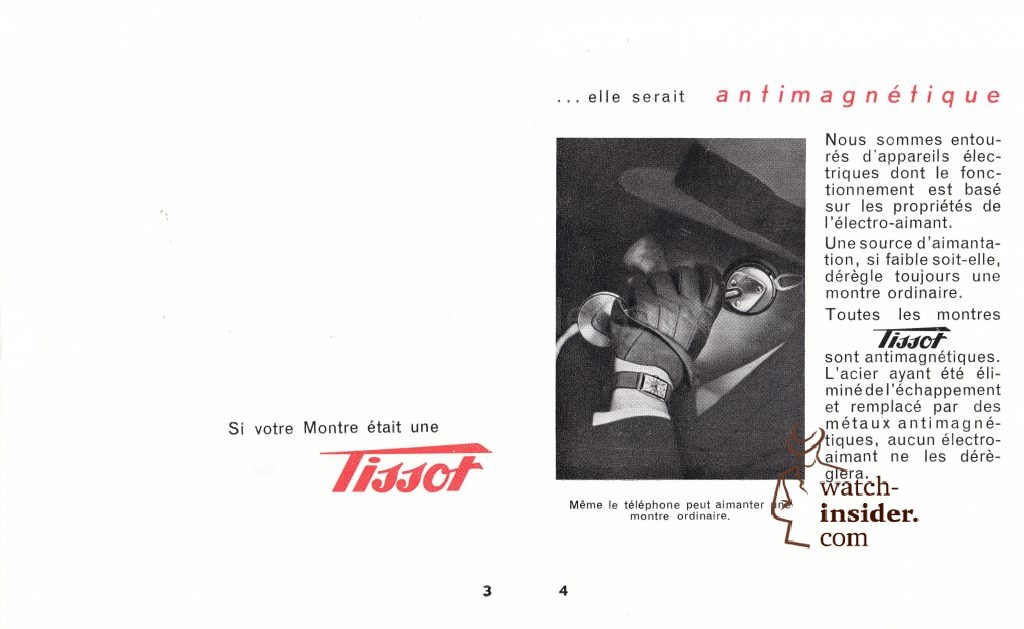 """Ca. 1934: A Tissot """"antimagnetique"""" catalogue found in the Tissot archives"""