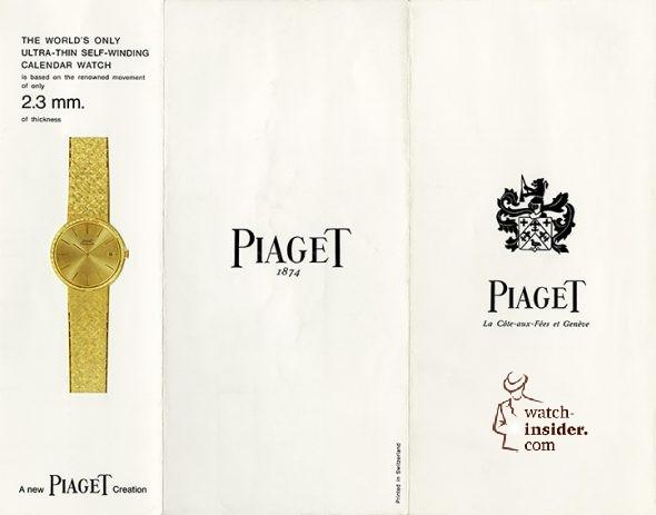 Piaget brochure 12P. 1960