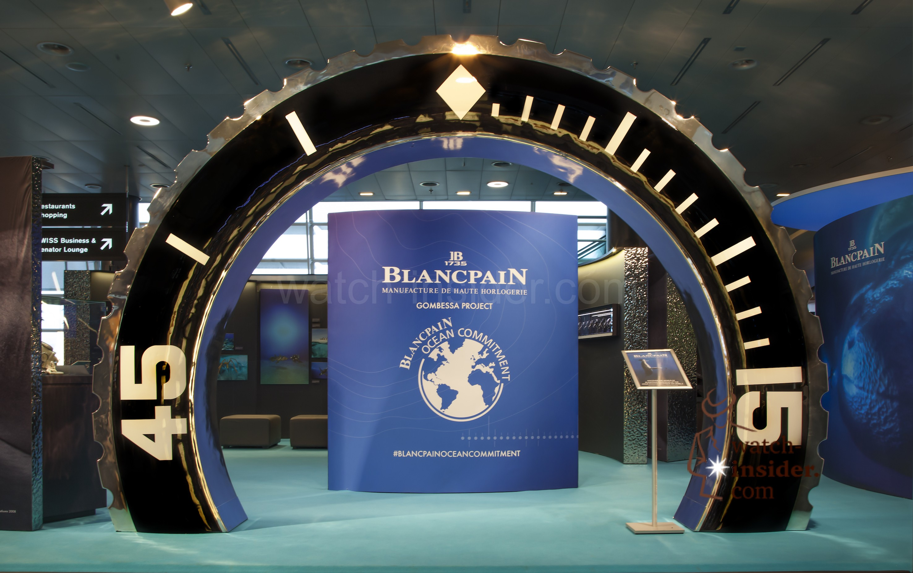Blancpain Ocean Commitment Exhibition at Zurich (ZRH) Airport