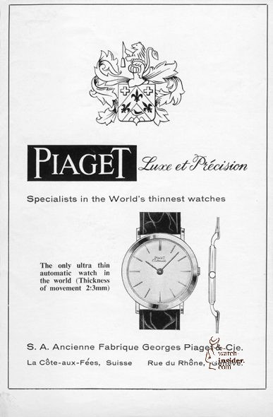 Piaget advertisement. 1960