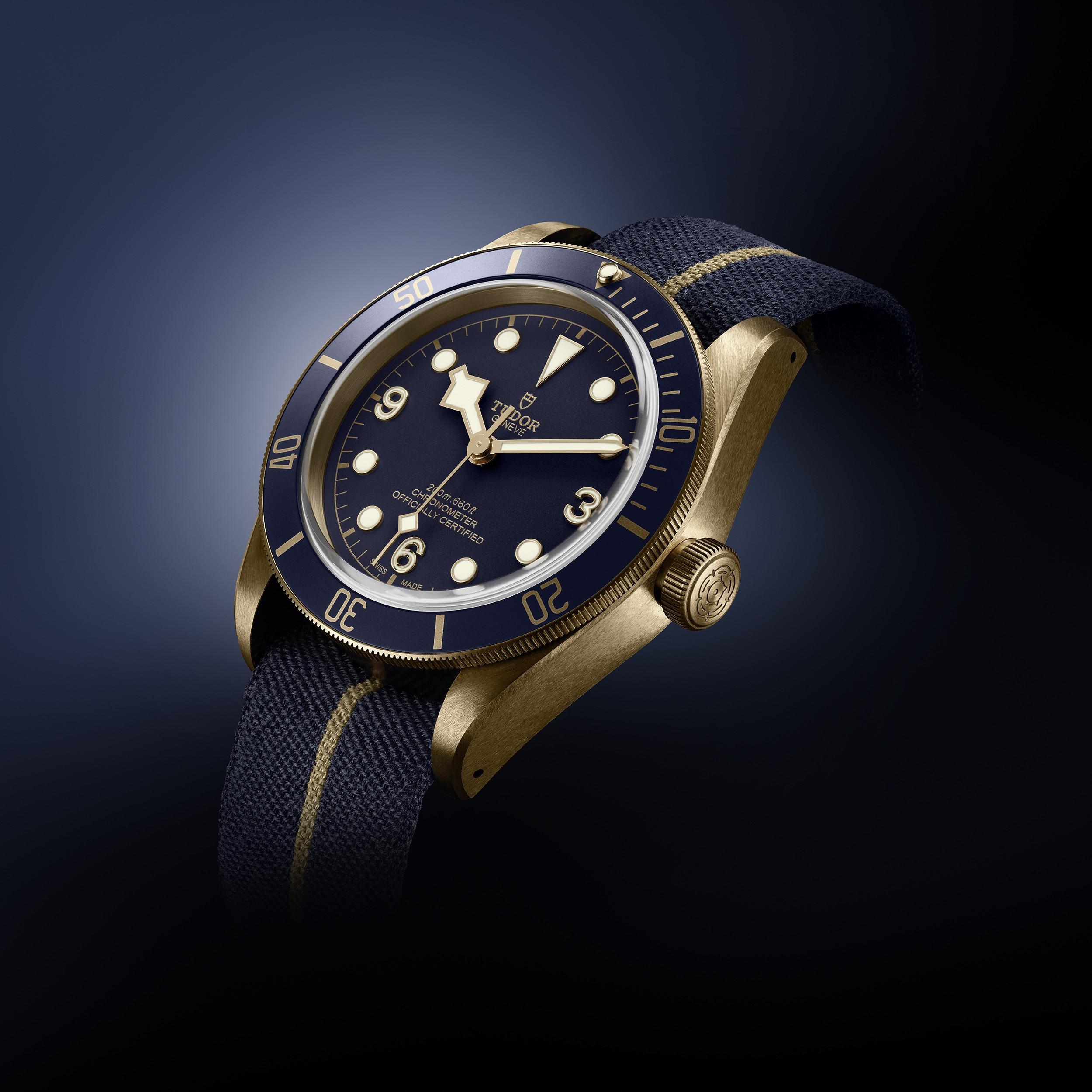 tudor heritage black bay bronze blue watch insider com