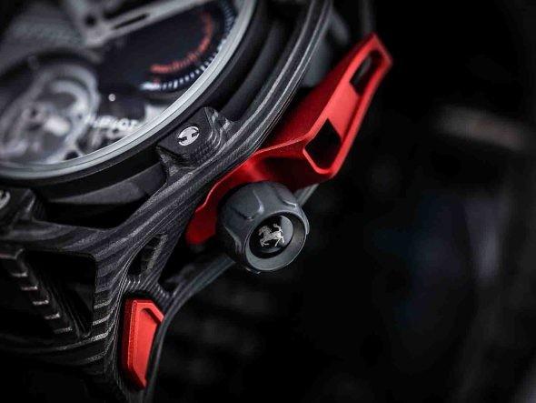 Hublot: Techframe Ferrari 70 Years Tourbillon Chronograph Carbon