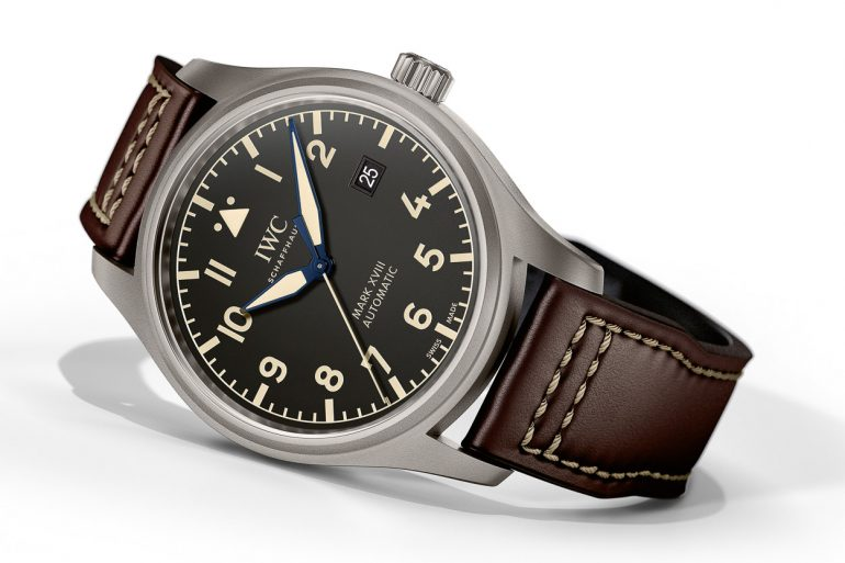 6085454005a IWC presents further new products in the form of Pilot s Watches in the  striking retro design of the historic Big Pilot s Watch from the 1940s.