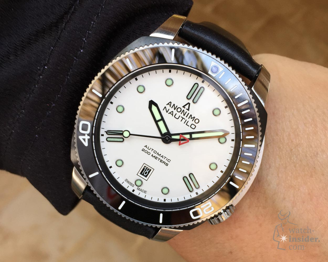 New version of the Anonimo Nautilo bianco