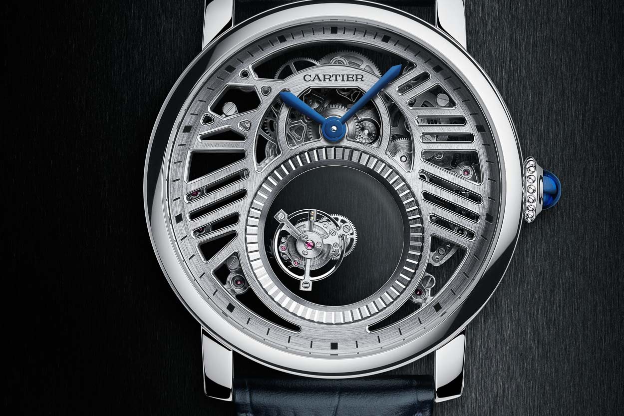 Rotonde de Cartier Skeleton Mysterious Double Tourbillon