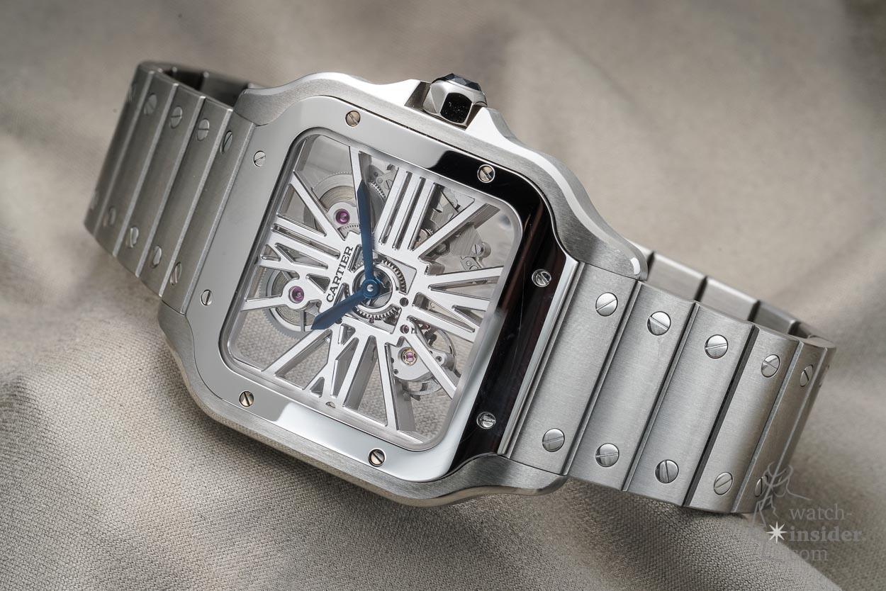 Santos de Cartier Skeleton Watch in stainless steel