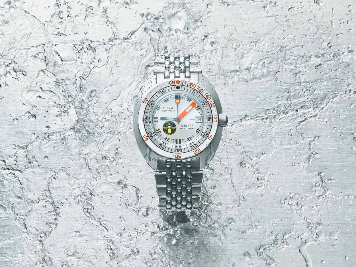 DOXA release of the SUB 300 Searambler Silver Lung